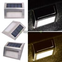 1/4/6/8pack Led Step Lights Lamp Solar Powered Stainless Steel Outdoor Path Us