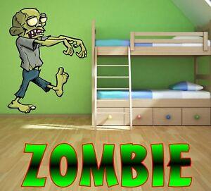 ZOMBIE zombies Wall Sticker Art Decal MURAL laptop HORROR ...