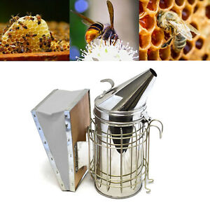 Electric Bee Hive Smoker for Beekeeper Stainless Steel w// Heat Shield Equipment