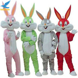 Easter-Rabbit-green-product-Mascot-Costume-lovely-fancy-dress-10-Colors-Adults