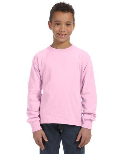 Fruit of the Loom Youth 5 oz 100/% Heavy Cotton HD Long Sleeve T-Shirt 4930B