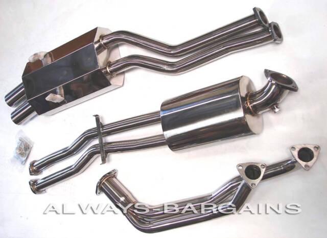 Manzo Stainless Steel Catback Exhaust Muffler Fits BMW 92-98 E36 M3 CBS-BM36M3