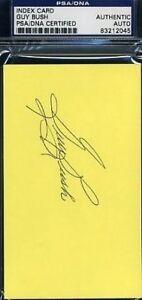 Guy Bush Signed Psa/dna 3x5 Index Card Autograph Authentic
