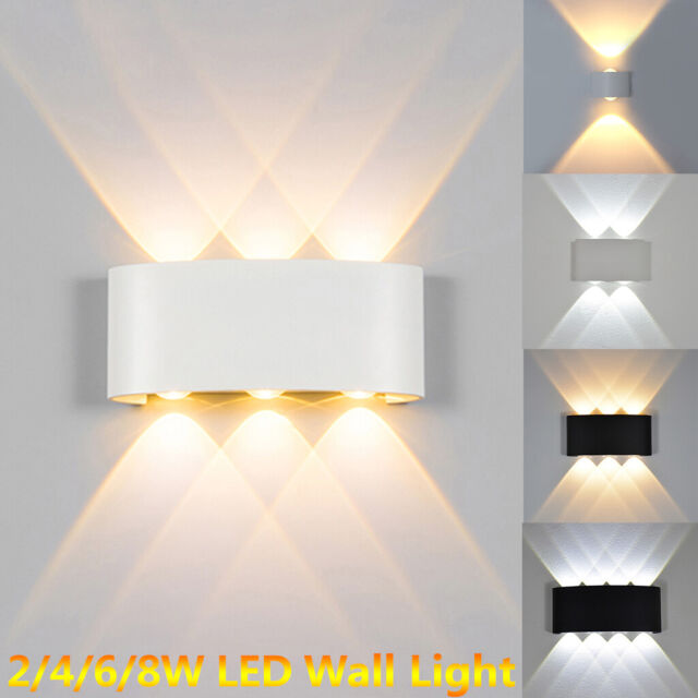 Led Wall Lights 2 4 6 8w Waterproof Aluminium Living Room Bedroom Hallway