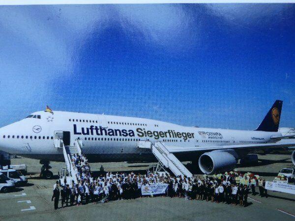 1 500 Herpa Lufthansa Boeing 747-8 Intercontinental Siegerflieger Olympia Rio ..