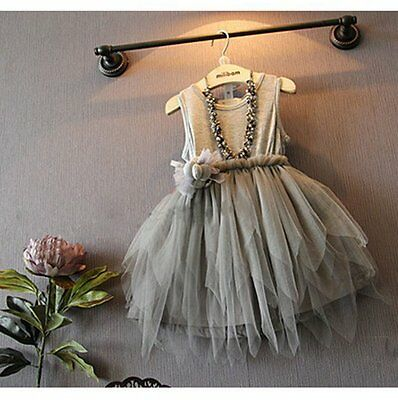 Flower Girls Kids Toddler Baby Princess Party Pageant Wedding Tulle Tutu Dress
