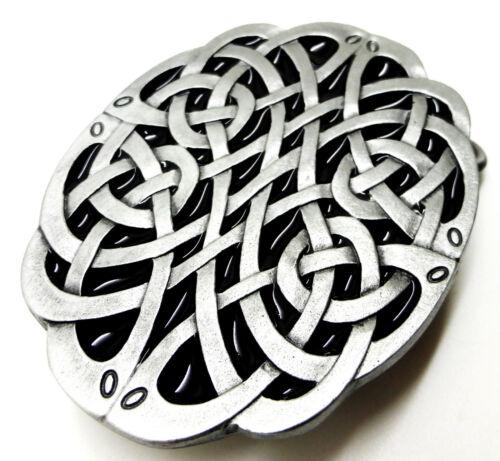 Celtic knot boucle de ceinture ovale noir gris authentique dragon designs produit