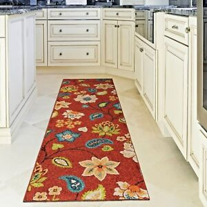 Details about KITCHEN RUGS CARPET AREA RUG RUNNERS OUTDOOR CARPET CUTE RED  PATIO RUNNER RUGS ~