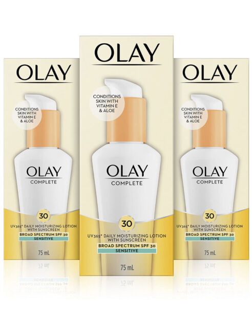 3 Pack Olay Complete Lotion Moisturizer w/ SPF 30 Sensitive 2.5 oz New Exp: 9/21