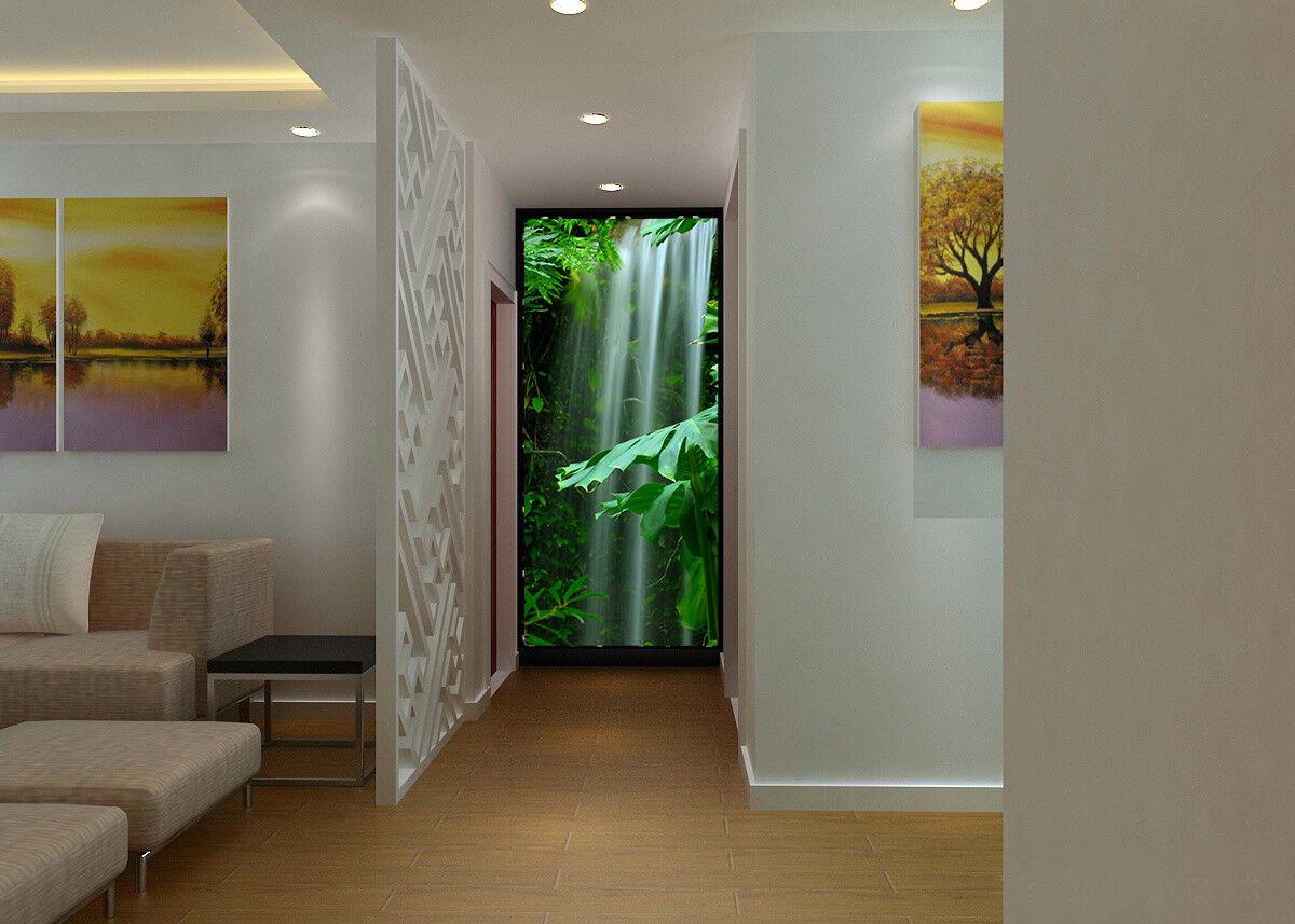 3D Wasserfall-Dschungel 74 Tapete Wandgemälde Tapete Tapeten Bild Familie DE