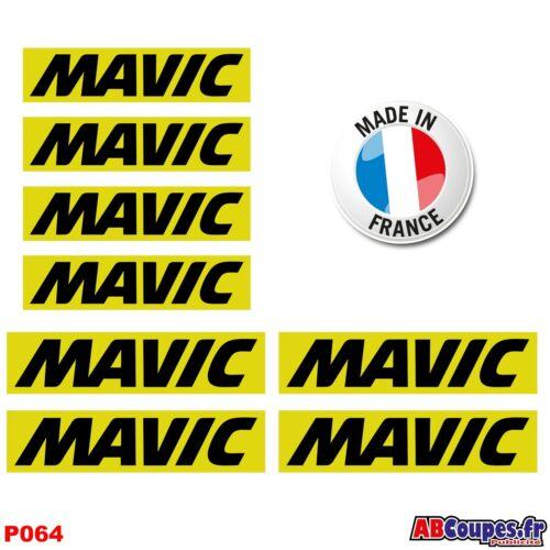 P064 8 Autocollants MAVIC Stickers Weel decals cosmic Rim set