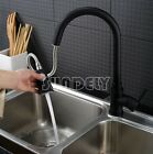 Black Kitchen Sink Basin Vanity Swivel Pull Out Spout Shower Mixer Tap Faucet au