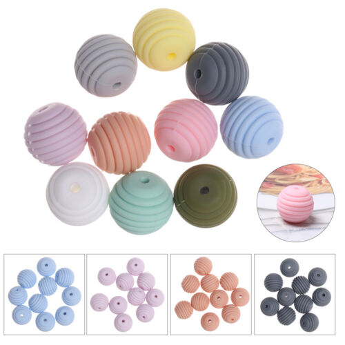 Threaded-Shaped Chew Beads Mom DIY Necklace BPA-Free Silicone Baby Teether