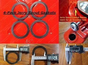 4pk Jerry SPOUT GASKET Fuel Blitz Metal Gas Can Spout GSKT 5 Gallon Military 20L