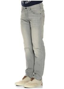 MENS-Lee-DAREN-Grey-SLIM-Straight-Stretch-Jeans-RRP-85-Seconds-L154