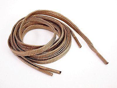"""DMG Laces Store 135cm 54"""" Flat Gold shoe laces fit for jordan kd lbj kobe"""