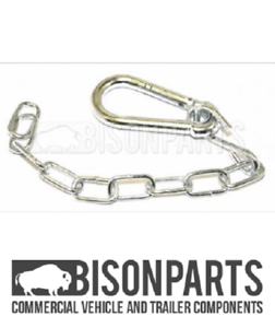 HGV Fifth Wheel Safety Chain Safety 14/'/' Clip /& Chain Snap Carabiner Clip Hook