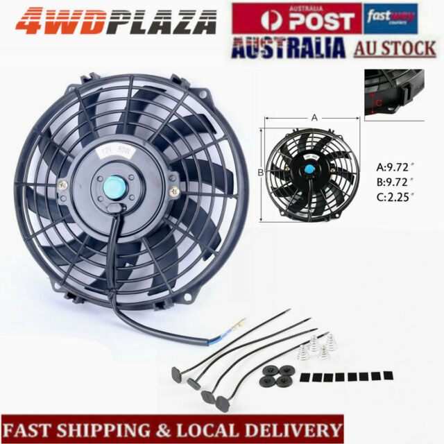 "9"" INCH FAN + MOUNTING PULL PUSH RADIATOR Cooling Electirc Thermo Fan"