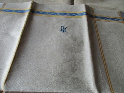 ein altes Leinen Geschirrtuch Handtuch Tischläufer Art Deko TOP 143