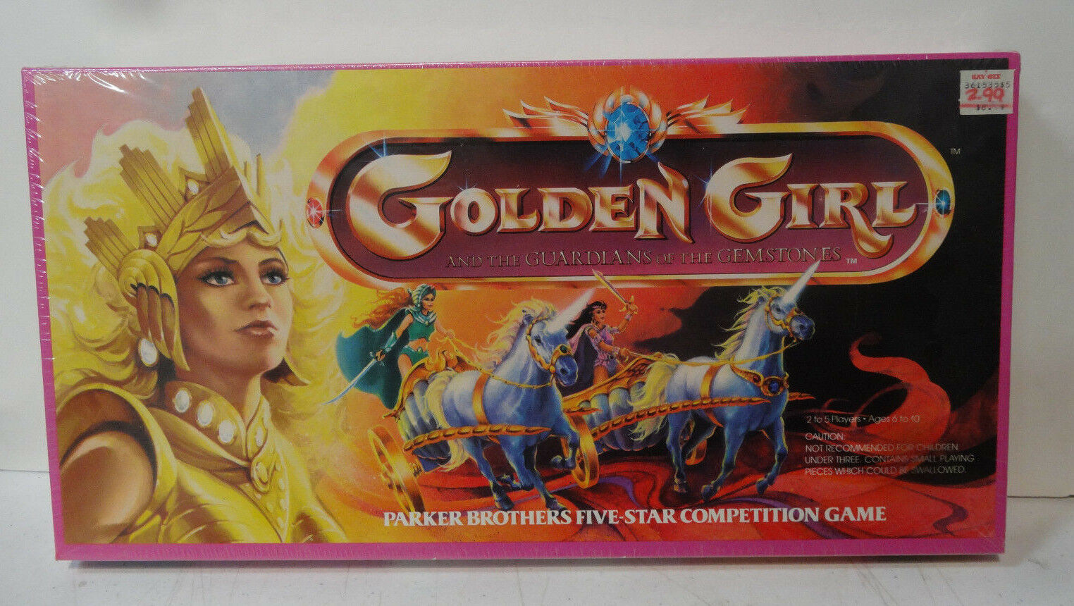 1985 oroen Girl Guardians of the Gemstone Board Game still sealed