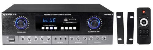 Rockville SingMix 3 Rack Mount 3000w Karaoke Amplifier//Mic Mixer+Bluetooth//Echo