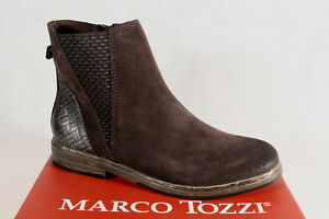 6231350a83d3 Marco Tozzi Ankle Boot Boots Zip Padded 25439 Real Leather New ...