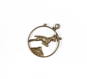 9CT GOLD LEAPING DOLPHIN FISH PENDANT AQUARIUS CHARM FOR BRACELET OR CHAIN BOX