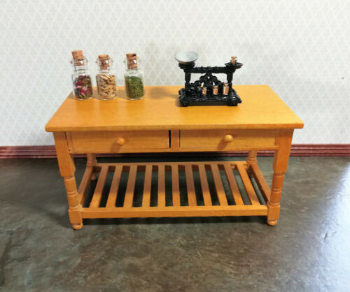 Dollhouse Miniature Old Time Scale with Weights Metal Non-Working 1:12 Scale