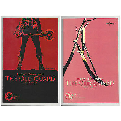 THE OLD GUARD #1 & 2 (2nd PRINT) IMAGE RUCKA Movie Option! SOLD OUT 2017 NM- NM