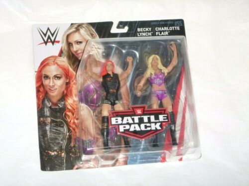 WWE BATTLE PACK BECKY LYNCH AND CHARLOTTE FLAIR SUPERSTAR WWE SMACK DOWN LIVE
