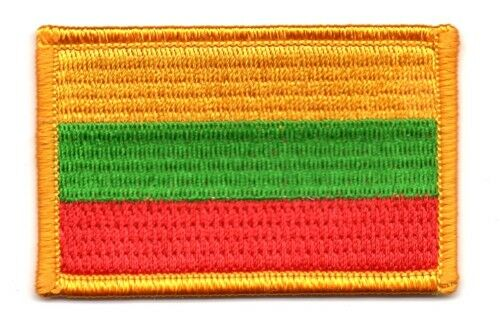 LITHUANIA FLAG PATCH BADGE IRON ON NEW EMBROIDERED