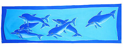 SAR018 HAND PAINTED MINI DOLPHIN SARONG