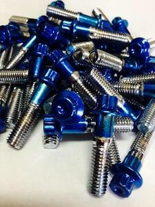 80Pcs  Custom Assembly 8mm Powder Coated Blue Bolts & Nuts For 2 And 3PC Wheels