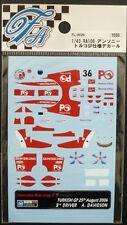 DECALS F'ARTEFICE FL-0029 F1 1/43 HONDA RA106 TURKISH GP 2006