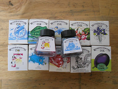 WINSOR & NEWTON RANGE OF 14ml DRAWING INKS.