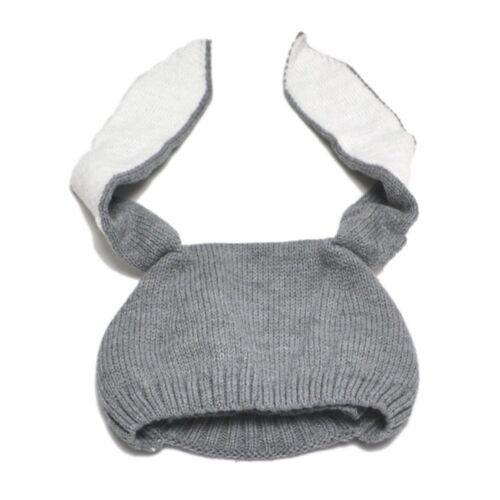 Cute Baby Rabbit Bunny Ear Hat Soft Crochet Infant Rabbit Hat Bonnet Photo Props
