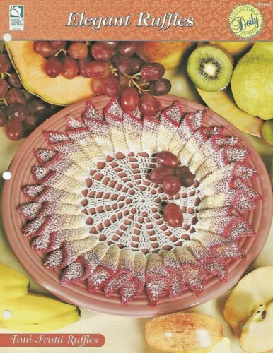 Elegant Ruffles Doilies HOWB Series Tutti-Frutti Ruffles Doily Crochet Pattern
