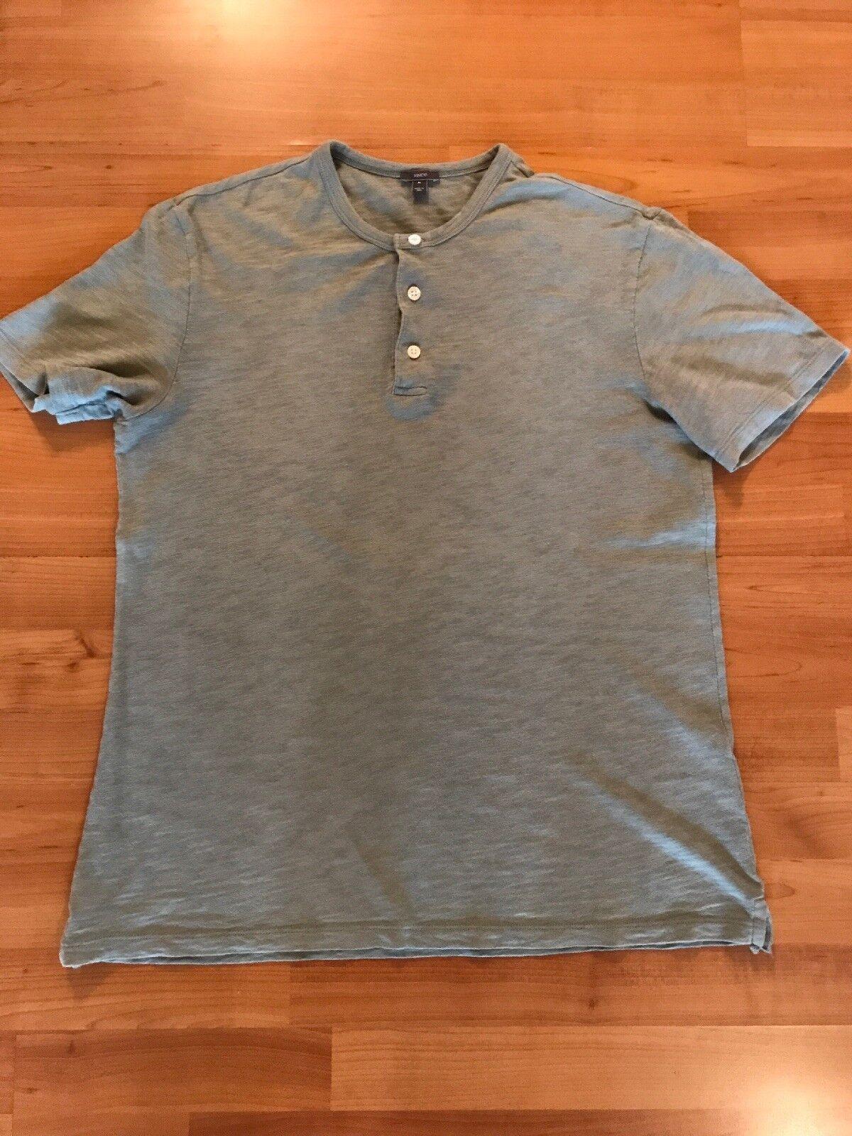 f809089c8 Vince Brand Men Light Green Short Sleeve Henley T-Shirt Tee- Sz M ...
