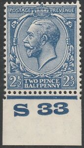 1924-BLOCK-CYPHER-SG422-21-2d-BLUE-CONTROL-S33-MINT-HINGED