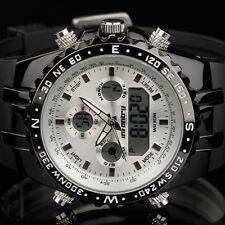 Infantry Mens LED Digital Analog Wrist Watch Chronograph Sport Army Pilot Rubber