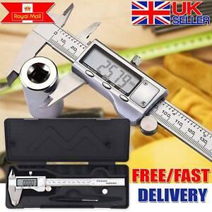 6 Inch 150mm Digital Vernier Caliper Stainless Steel Micrometer Electronic Tool