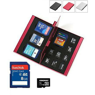 Aluminum Portable Memory Card Storage Case Protective Holder Box For TF SD Card