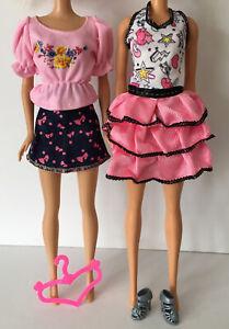 Brand New Barbie Steffi Fashion Doll Leggings Tops Shoes Clothes Bundle Lot 10 Ebay