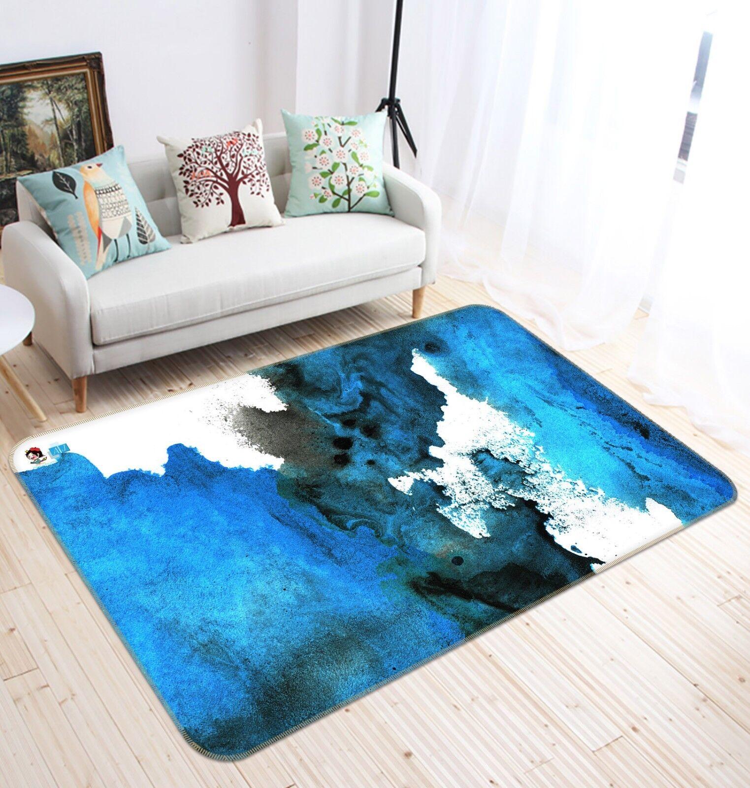 3D 3D 3D Blau Tinte Malerei 1 Rutschfest Teppich Raum Matte Qualität Elegant Teppich 3d58f7