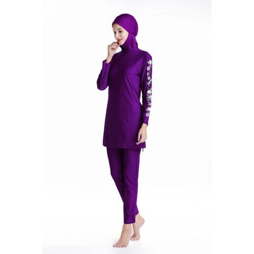 Plus Size Muslim Swimwear Women Swimsuit Modesty Islamic Beachwear Full Cover