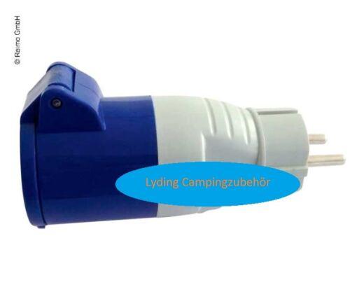 CEE Schuko-Stecker Adapter auf CEE-Kupplung mit Deckel