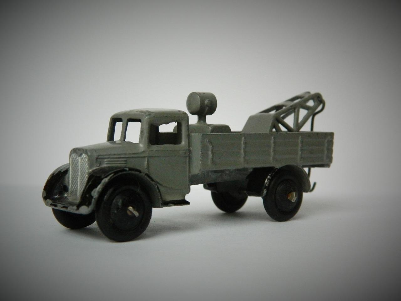 Schäbiges spielzeug selten vorkriegs - abschleppwagen 35a 1935-40 offene fenster glatt hubs