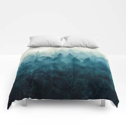 Nature Duvet Cover, Blue, Queen Size, Never Used, Pretty, Society6