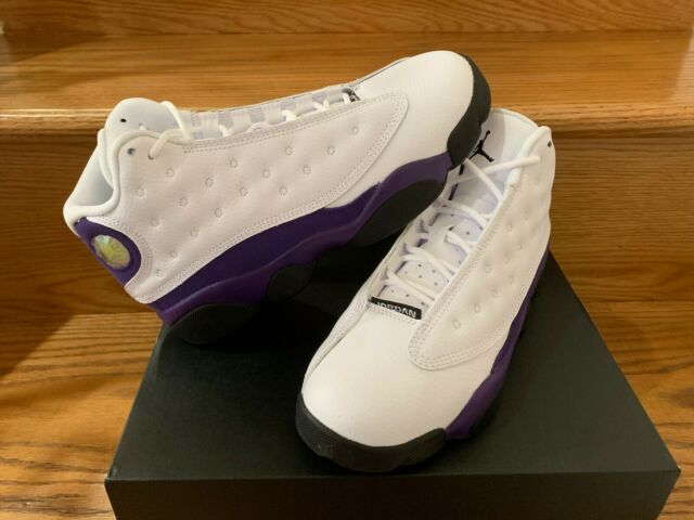 new product 533ab 8d4a2 Nike Air Jordan Retro 13 XIII Lakers White Purple Gold TD PS Size 4C-3Y  Kids NEW