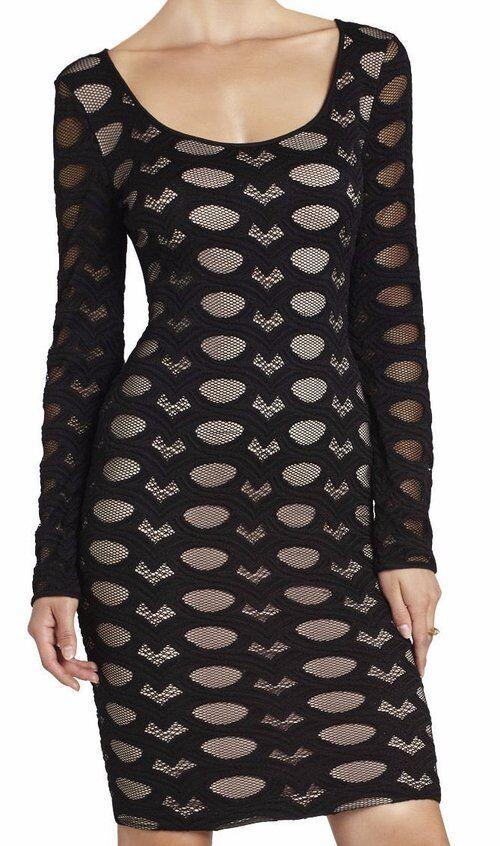 BCBG  NWT  Tanya  schwarz Lace Party Dress New S DGL68B04